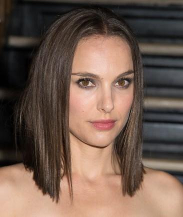 Natalie Portman with hair