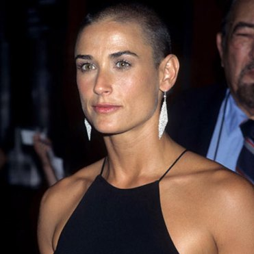 Demi Moore bald