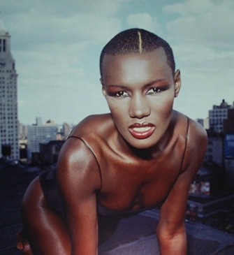 Grace Jones without hair