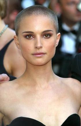 natalie portman without hair