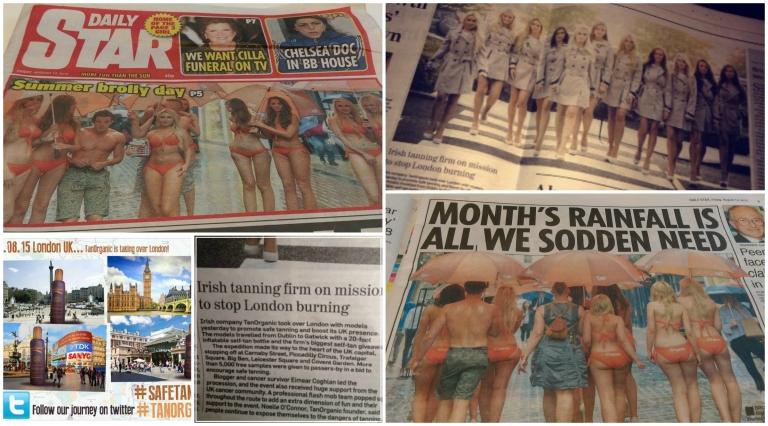 safe tanning Eimear Coghlan Ahead with style Tanorganic Bikini Models London