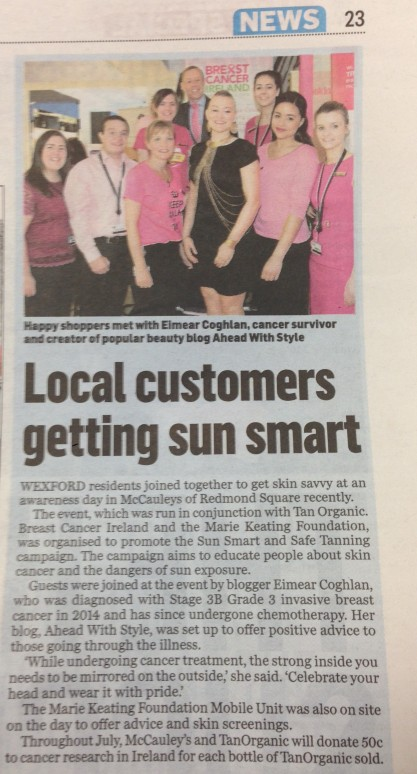 EIMEAR COGHLAN A HEAD WITH STYLE WEXFORD SUNSMART TANORGANIC
